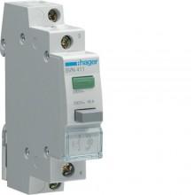 SVN411 Przycisk sterowniczy 1NO LED zielona 230V 16A