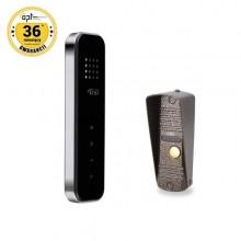 Zestaw domofonowy jednorodzinny bezsłuchawkowy wadaloodporny CORS B czarny OR-DOM-IS-917/B
