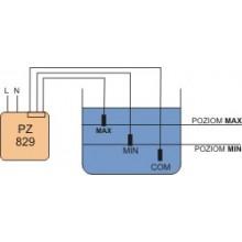 Przekaźnik kontroli poziomu cieczy 16A 2P 1-100kOhm z regulacją czułości PZ-829 RC