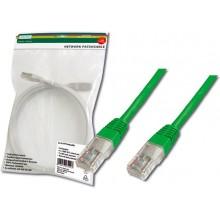 Kabel krosowy (Patch Cord) U/UTP kat.5e zielony 0,5m DK-1512-005/G /10szt./