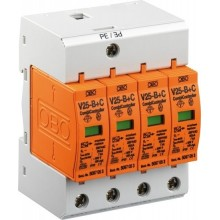 Ogranicznik przepięć PV ze zdalną sygnalizacją B+C 3P 12,5kA 2,6kV 600V DC V50-B+C 3PHFS600 5093625