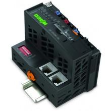 Programowalny sterownik sieciowy CPU 16 bit ETHERNET Telecontrol /XTR CANopen 640/832 kbyte D-Sub/XTR 750-880/040-001