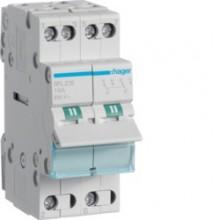 SFL216 Modułowy przełącznik instalacyjny I-II, punkt wspólny od dołu, 2-biegunowy 16 A
