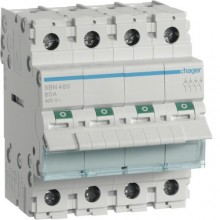 SBN480 Modułowy rozłącznik izolacyjny 4-biegunowy 80 A