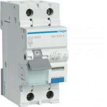 ADC960D RCBO Wyłącznik różnicowoprądowy z członem nadprądowym 1P+N 6kA C 10A/30mA Typ AC