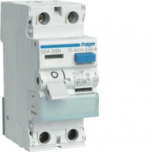 CDA225J RCCB Wyłącznik różnicowoprądowy 2P 25A/30mA Typ A