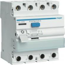 CDA440J RCCB Wyłącznik różnicowoprądowy 4P 40A/30mA Typ A