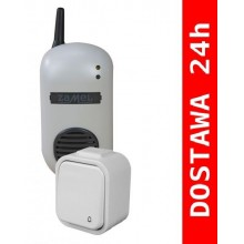 DRS-982H BULIK Dzwonek bezprzewodowy z przyciskiem hermetycznym PDH-991, szary