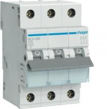 MCN306E MCB Wyłącznik nadprądowy 6kA 3P C 6A