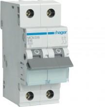 MCN516E MCB Wyłącznik nadprądowy 6kA 1P+N C 16A