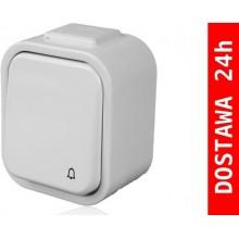 PDH-991 Przycisk bezprzewodowy hermetyczny, biały