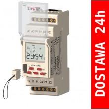 ZCM-12P/U Programator czasowy tygodniowy 2-kanałowy, pamięćzewnętrzna