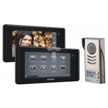 Zestaw wideodomofonowy dotykowy dwurodzinny z ekranem TFT-LCD 7 cala gniazdo czarny