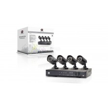Zestaw do monitoringu 4 kamery CCTV 1/3.7'' SONY CCD 480TVL + rejestrator 8 kanałowy C8CHCCTVKIT