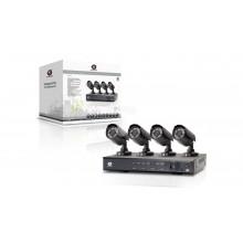 Zestaw do monitoringu 4 kamery CCTV 1/4'' SONY CCD 420TVL + rejestrator 4 kanałowy C4CHCCTVKIT