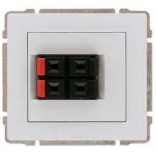 KOS66 Gniazdo głośnikowe podwójne stereofoniczne aluminium 664071
