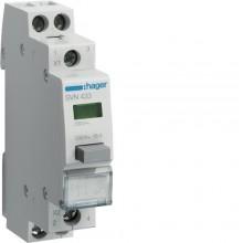 SVN433 Przełącznik przyciskowy 2NO LED zielona 230V 16A